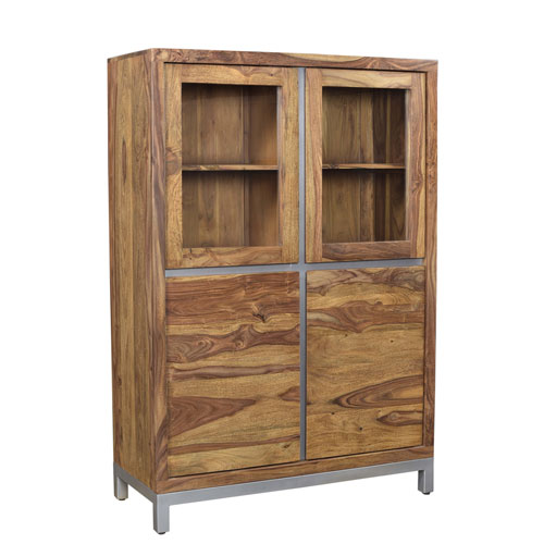 Coast to Coast Imports  Kingston Brown Four Door Tall Cabinet