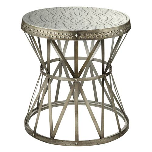 Coast To Imports Nickel Round Accent Table