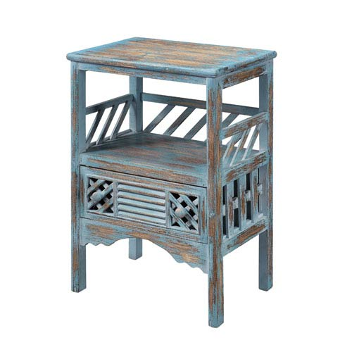 Coast to Coast Accents Bali Blue 1-Drawer Accent Table