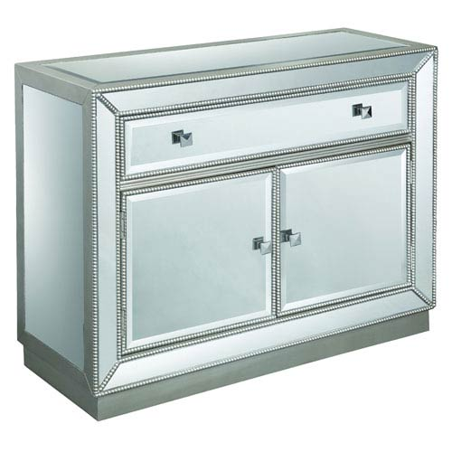 Coast to Coast Imports  Coast to Coast Accents Mirrored 1-Drawer Two Door Cabinet