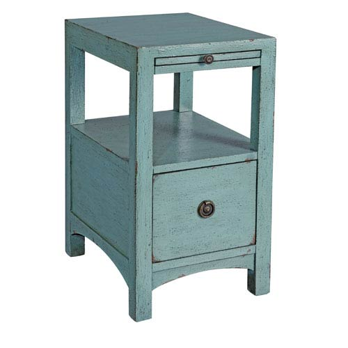 Coast to Coast Imports  Textured Blue Side Table