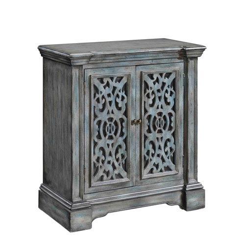 Grey Two Door Cabinet