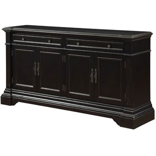 Hand Painted Two Drawer Four Door Media Credenza
