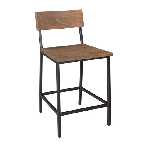 Honey Brown Counter Height Dining Chairs Set of 2