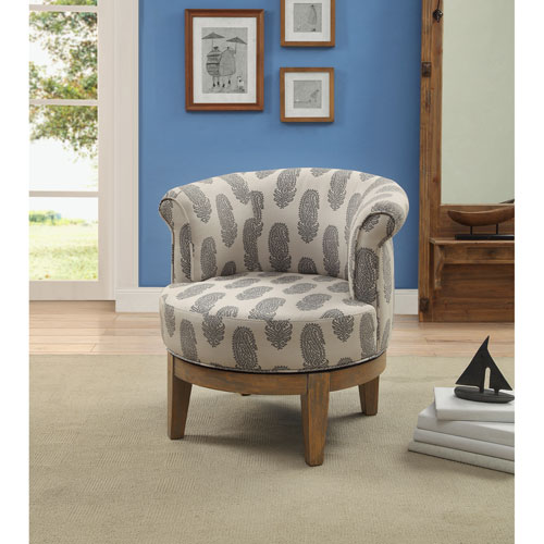 Swivel Accent Chair, Beachum Distressed