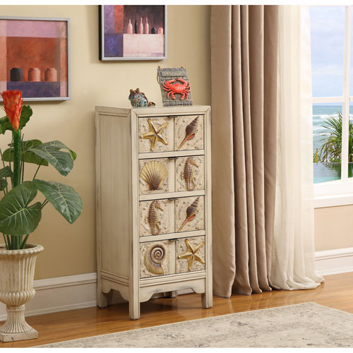 Four Drawer Chest, Shoals Distressed Sand