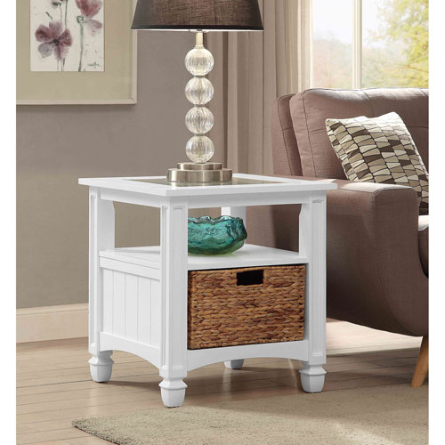 Harbor Towne End Table, White