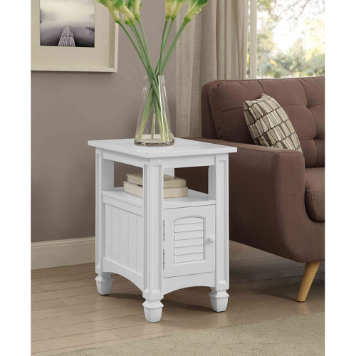 Harbor Towne Chairside Table, White