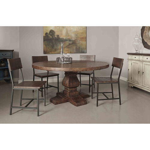 Woodbridge Round Dining Table, Woodbridge Distressed Brown