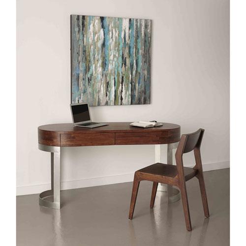 Coast to Coast Imports  Two Drawer Writing Desk, Corina Light Walnut