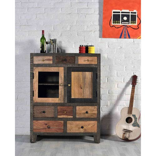 Eight Drawer Two Door Cabinet, Woodland Natural