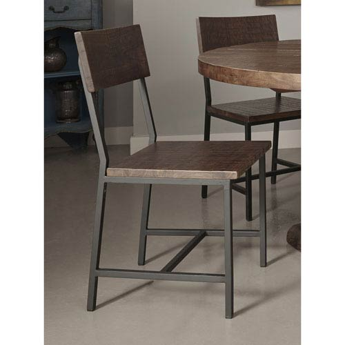 Dining Chairs, Set of Two, Woodbridge Distressed Brown