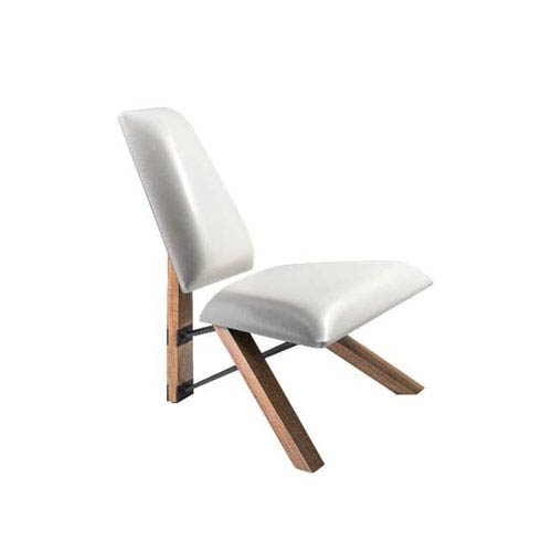 Merveilleux Adesso White Leather Accent Chair