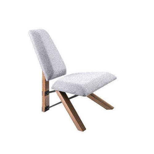Light Grey Fabric Accent Chair