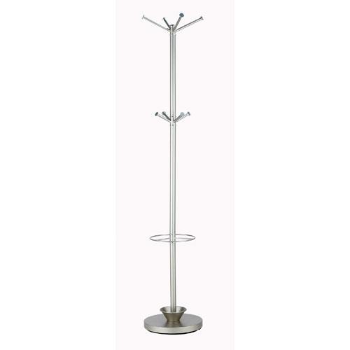 Quatro Satin Steel Umbrella Stand/Coat Rack