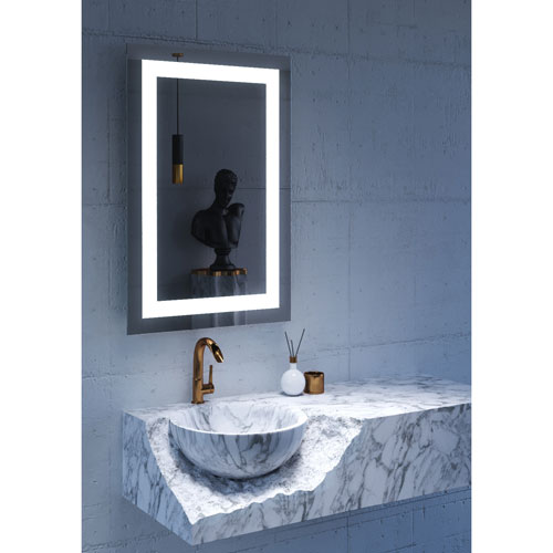 Malisa 24 x 36-Inch LED Lighted Wall Mirror by Civis USA