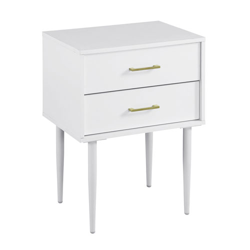 White Modern Side Table