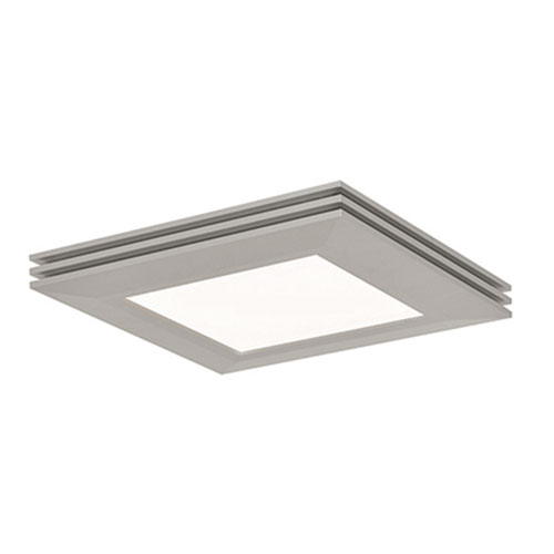 Sloane Satin Nickel 15-Inch LED Flush Mount