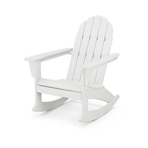 Vineyard White Adirondack Rocking Chair