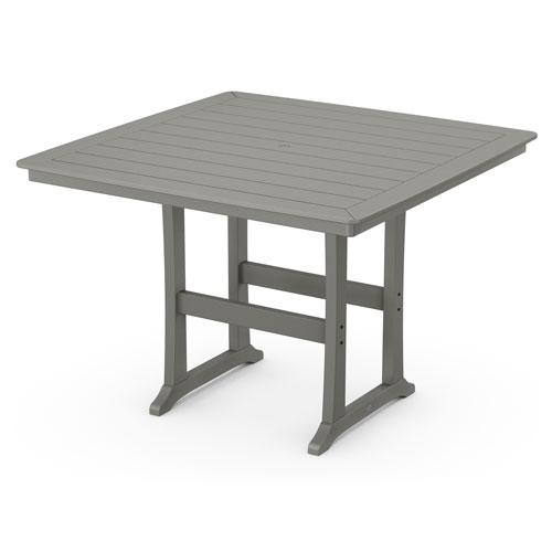 Nautical Trestle Slate Grey 59-Inch Bar Table