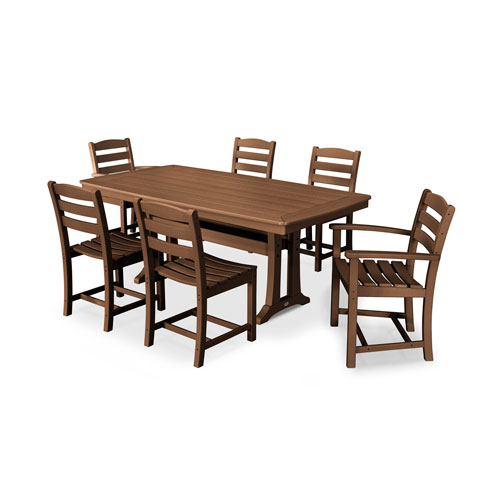 La Casa Cafe Teak Dining Set, 7-Piece