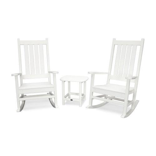 Vineyard White Rocking Set, 3-Piece