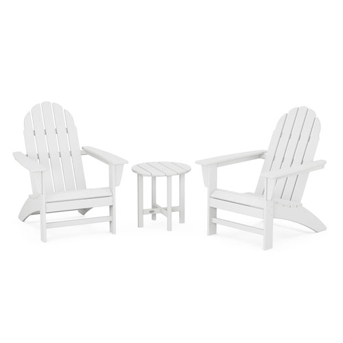 Vineyard White Adirondack Set, 3-Piece