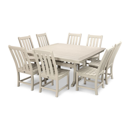 Vineyard Sand Dining Set, 9-Piece