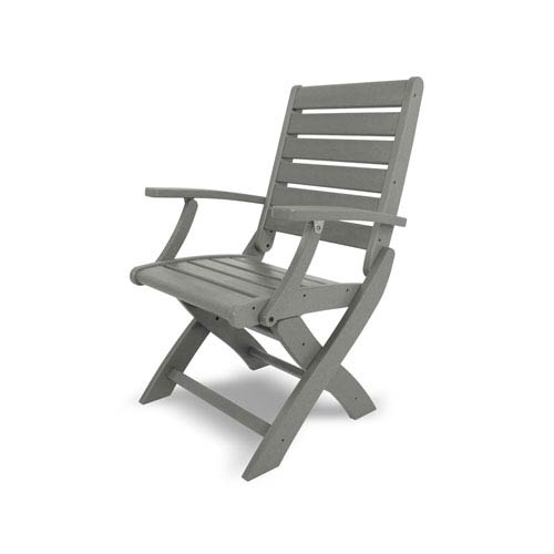 Signature Folding Chair in Slate Grey
