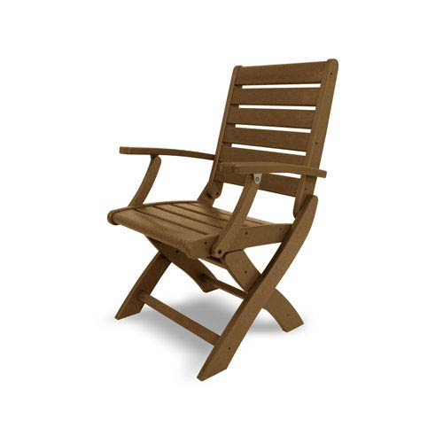 Polywood Signature Folding Chair In Teak