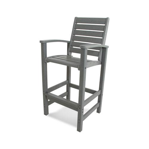 Signature Bar Chair in Slate Grey