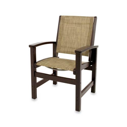 Coastal Burlap Dining Chair