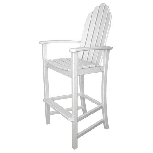 POLYWOOD® Adirondack Dining White Bar Height Chair