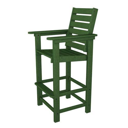 POLYWOOD® Captain Green Bar Height Chair