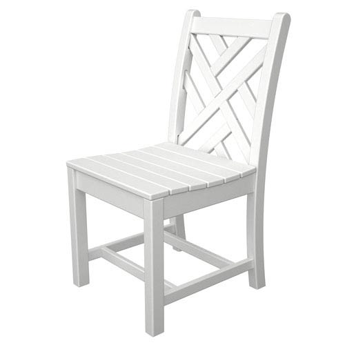 Pleasing Chippendale White Dining Side Chair Theyellowbook Wood Chair Design Ideas Theyellowbookinfo