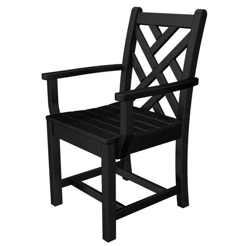 Chippendale Black Dining Arm Chair