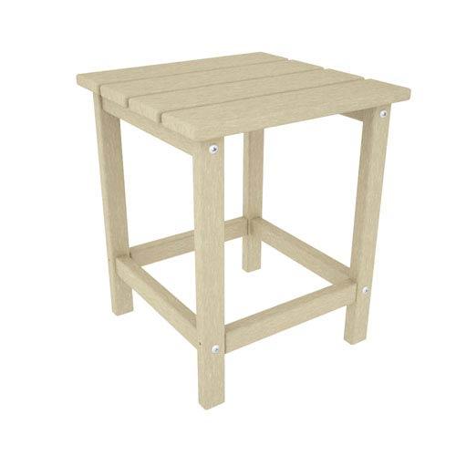 POLYWOOD® Long Island Adirondack Sand 18 Inch Side Table