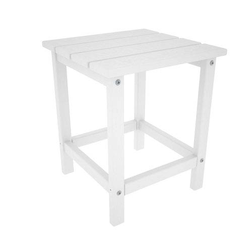 Long Island Adirondack White 18 Inch Side Table