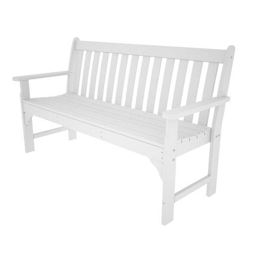 Vineyard White 60 Inch Bench