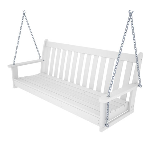 Vineyard White 60 Inch Swing