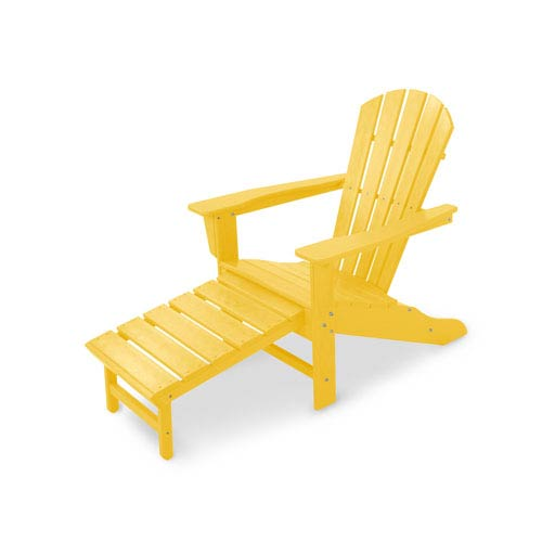 South Beach Lemon Ultimate Adirondack with Hideaway Ottoman