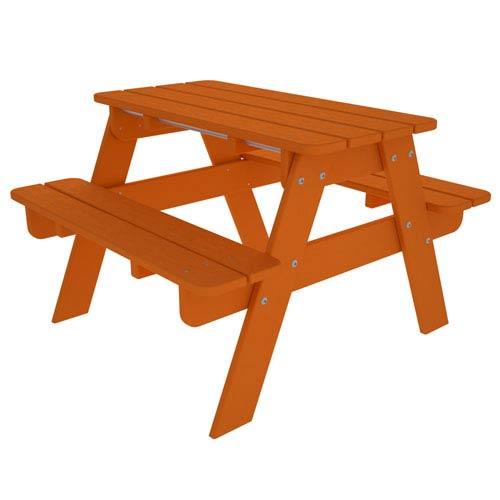 POLYWOOD® Kid Tangerine Picnic Table