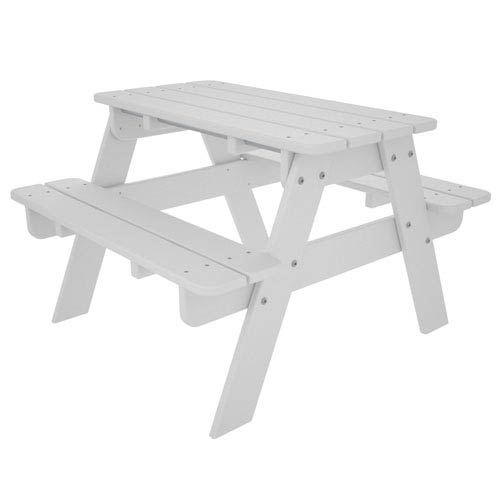 Kid White Picnic Table
