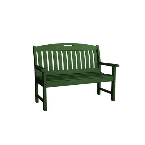 Nautical Green 48 Inch Bench