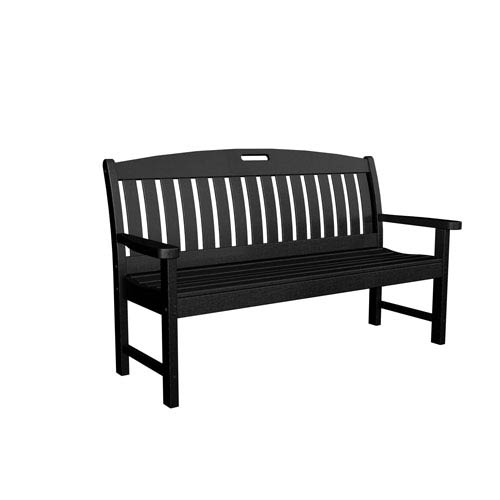 Surprising Polywood Nautical Black 60 Inch Bench Bralicious Painted Fabric Chair Ideas Braliciousco