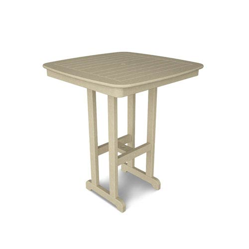 nautical bar decor.htm polywood   nautical sand 37 inch bar height table ncbt37sa bellacor  nautical sand 37 inch bar height table