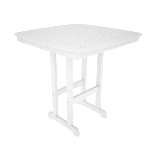 Nautical White 44 Inch Bar Height Table
