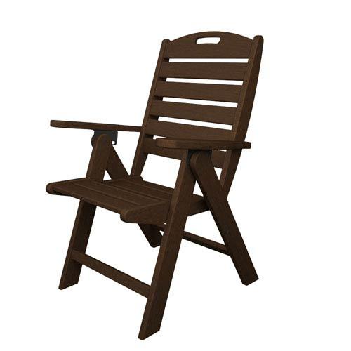 Nautical Mahogany Highback Chair