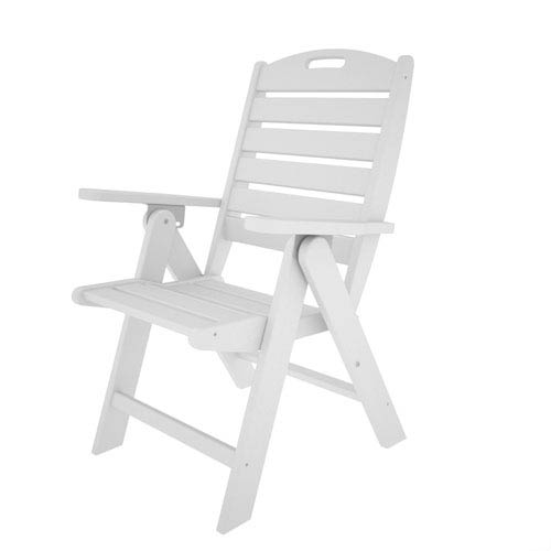 Incredible Polywood Nautical White Highback Chair Onthecornerstone Fun Painted Chair Ideas Images Onthecornerstoneorg