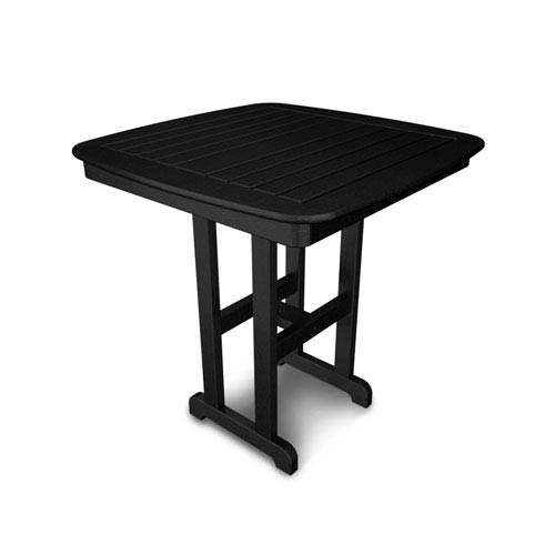 POLYWOOD® Nautical Black 37 Inch Counter Height Table